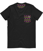 Unisex Pocket Tee - Leaf Quadrangle Print