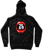 'Speak, I Can See You' Graphic Eye in Mouth Trendy Unisex Pullover Hoodie