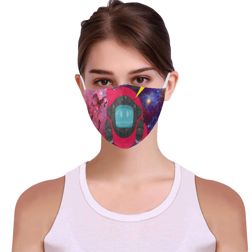 Astronaut Cotton Fabric Face Mask with Filter Slot & Adjustable Strap (Pack of 5) - Non-medical use