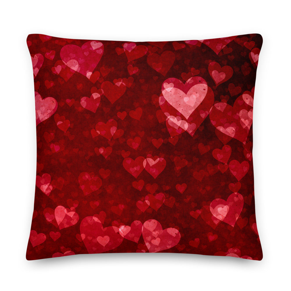My Heart Beats for You Premium Throw Pillow