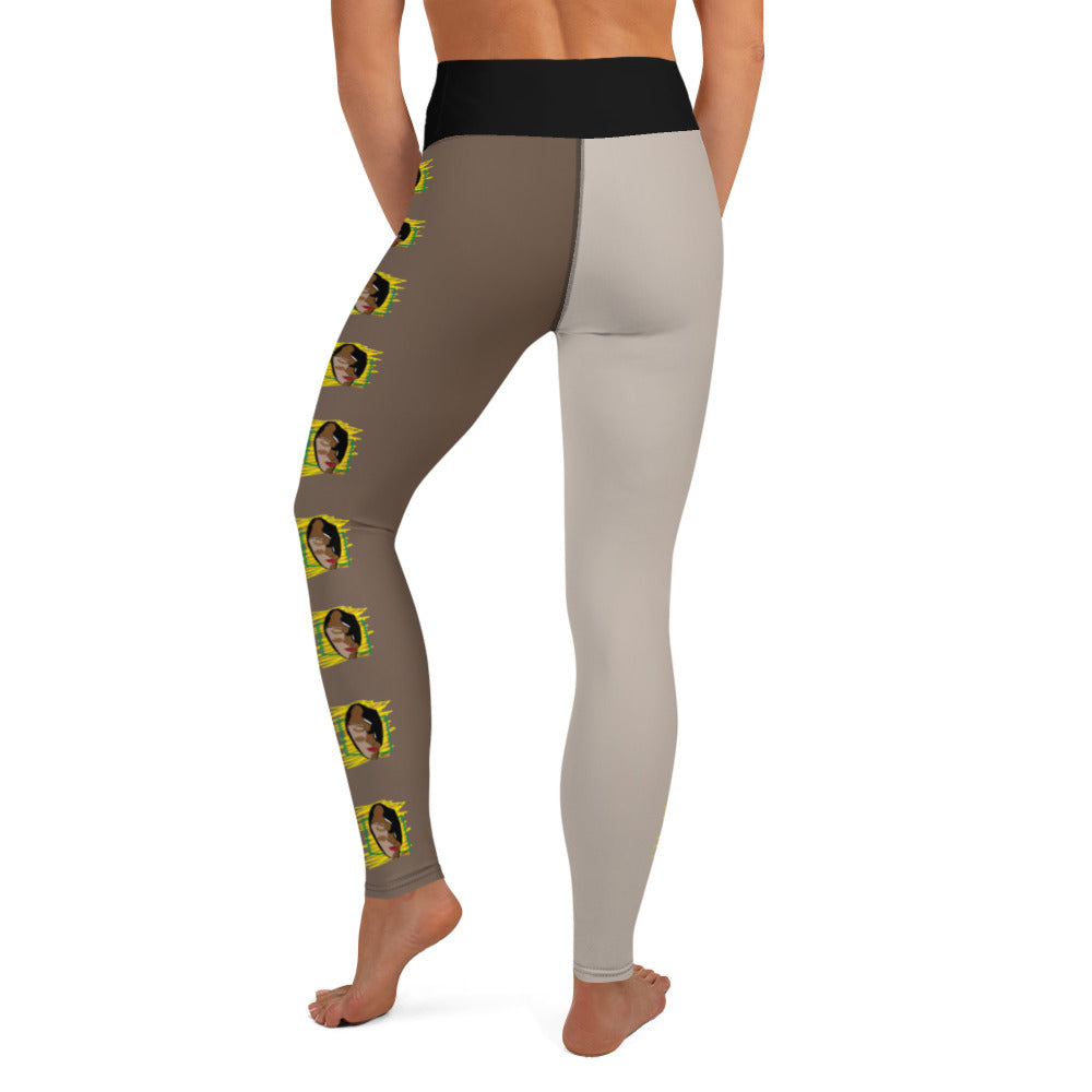 Serenity Skin Tone High Waist Leggings - chocolate