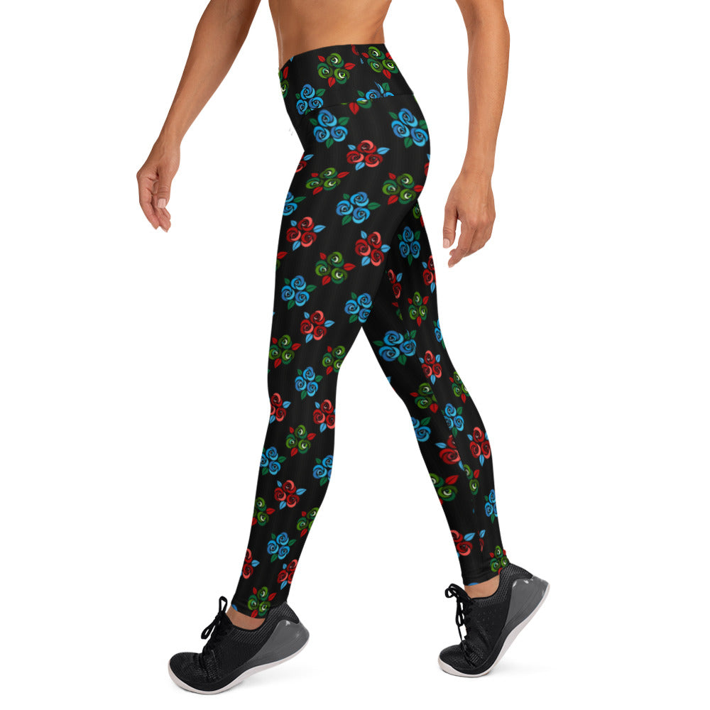 Rose Bouquet High Waist Leggings