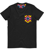 Unisex Pocket Tee - Sun Quadrangle Print