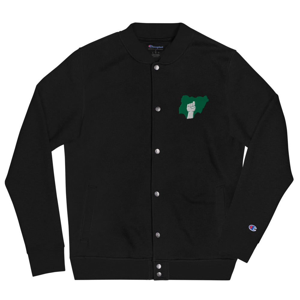Naija Pride Embroidered Bomber Jacket