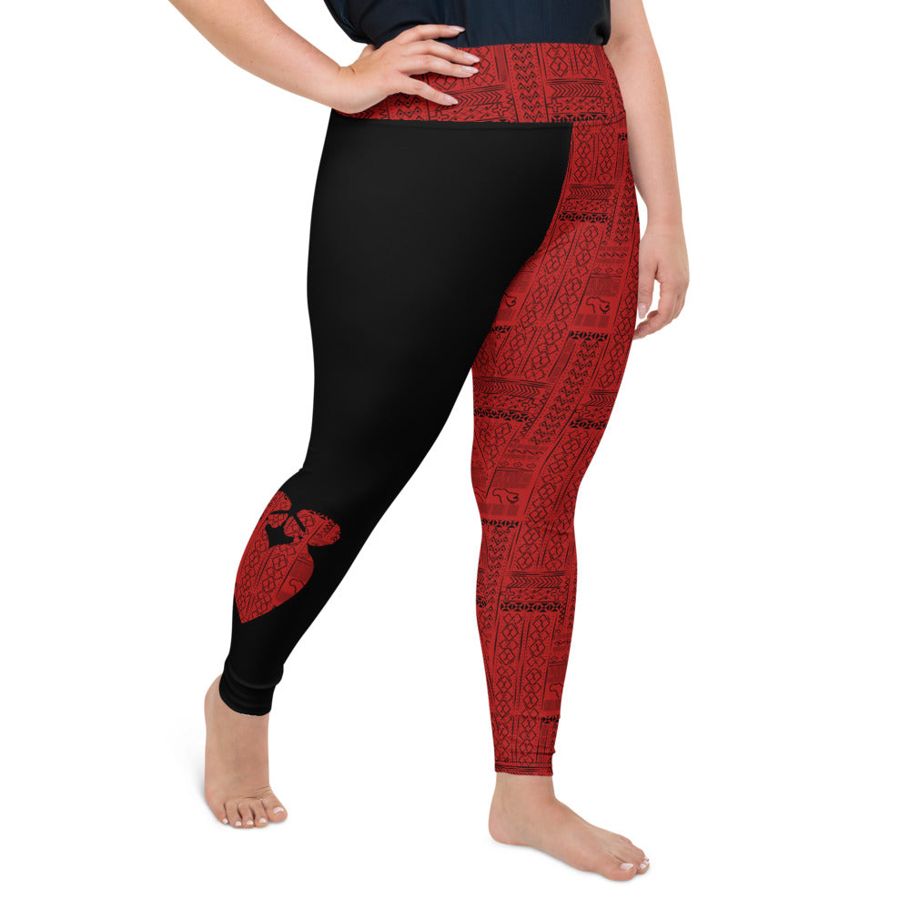 AfriBix Tribal Ubuntu Plus Size High Waist Leggings