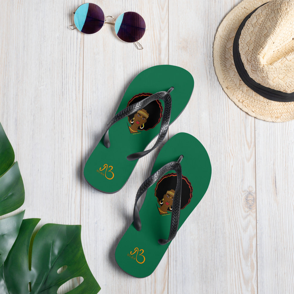 AfriBix Warrior Flip-Flops - Green