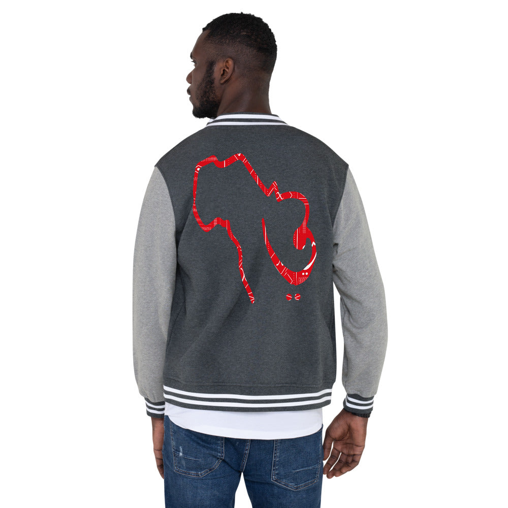 Sounds of Africa Men's Fleece Lined Letterman Jacket