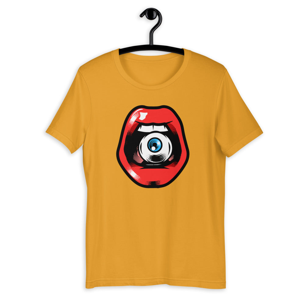 'Speak, I Can See You' Eye in Mouth Short-Sleeve Unisex T-Shirt