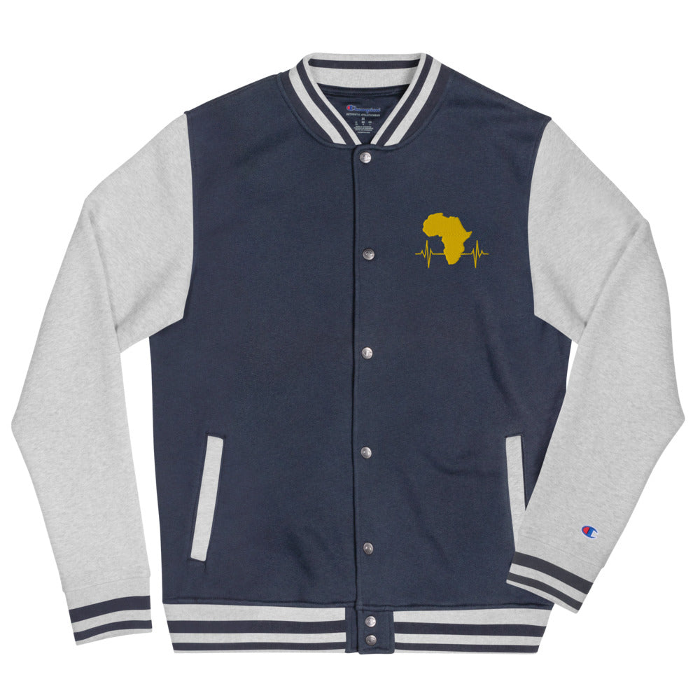 AfriBix Heartbeat of Africa Embroidered Champion Bomber Jacket