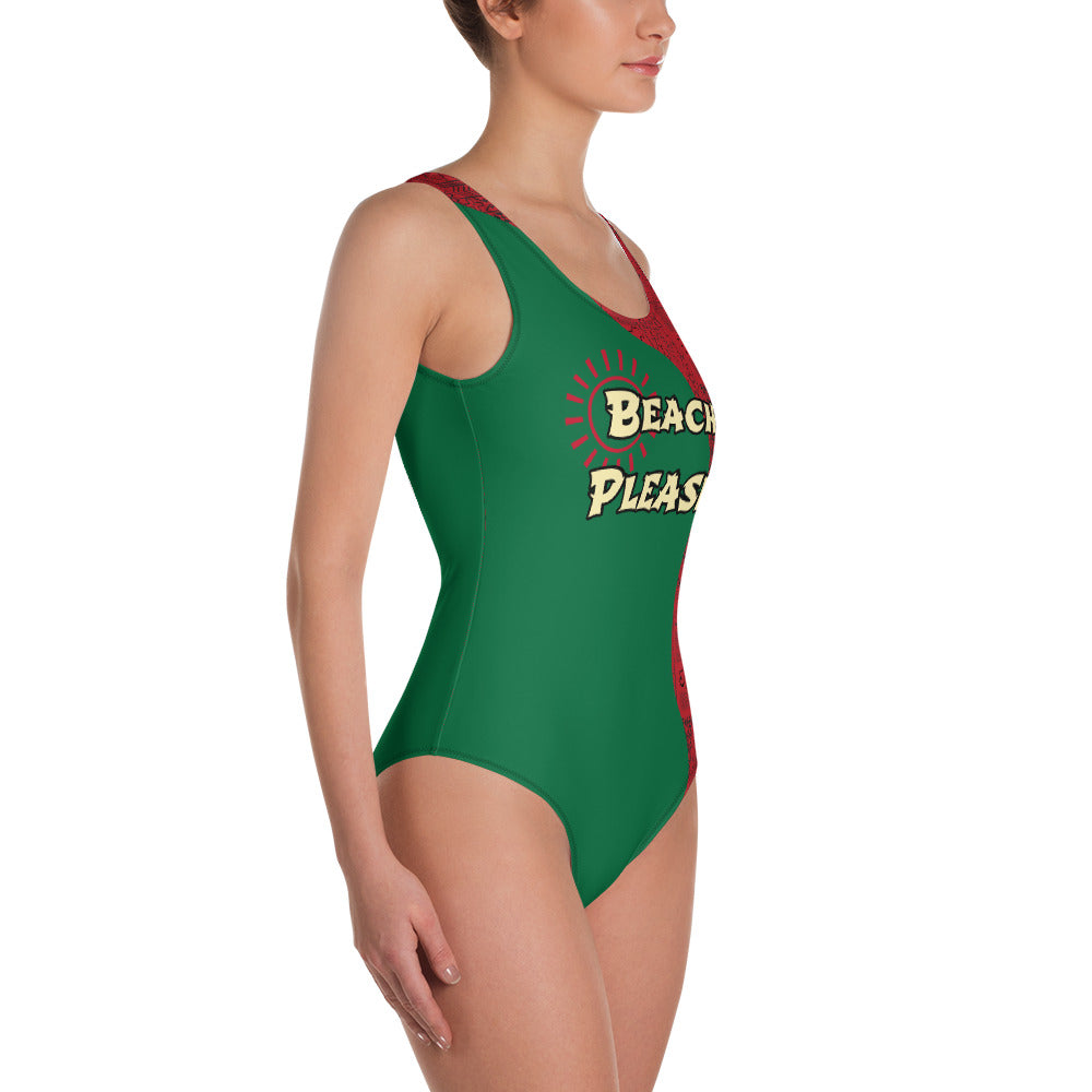 Beach Please Tribal One-Piece Swimsuit