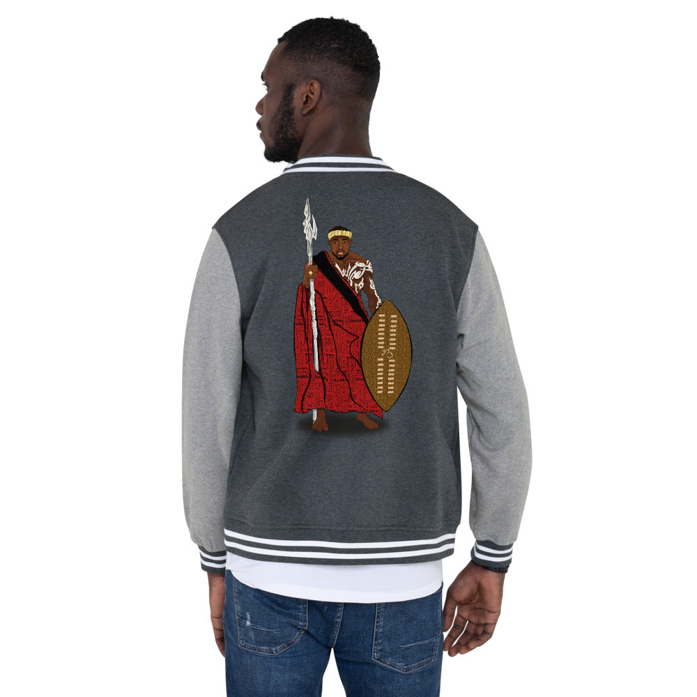 AfriBix Warrior African King Men's Letterman Jacket