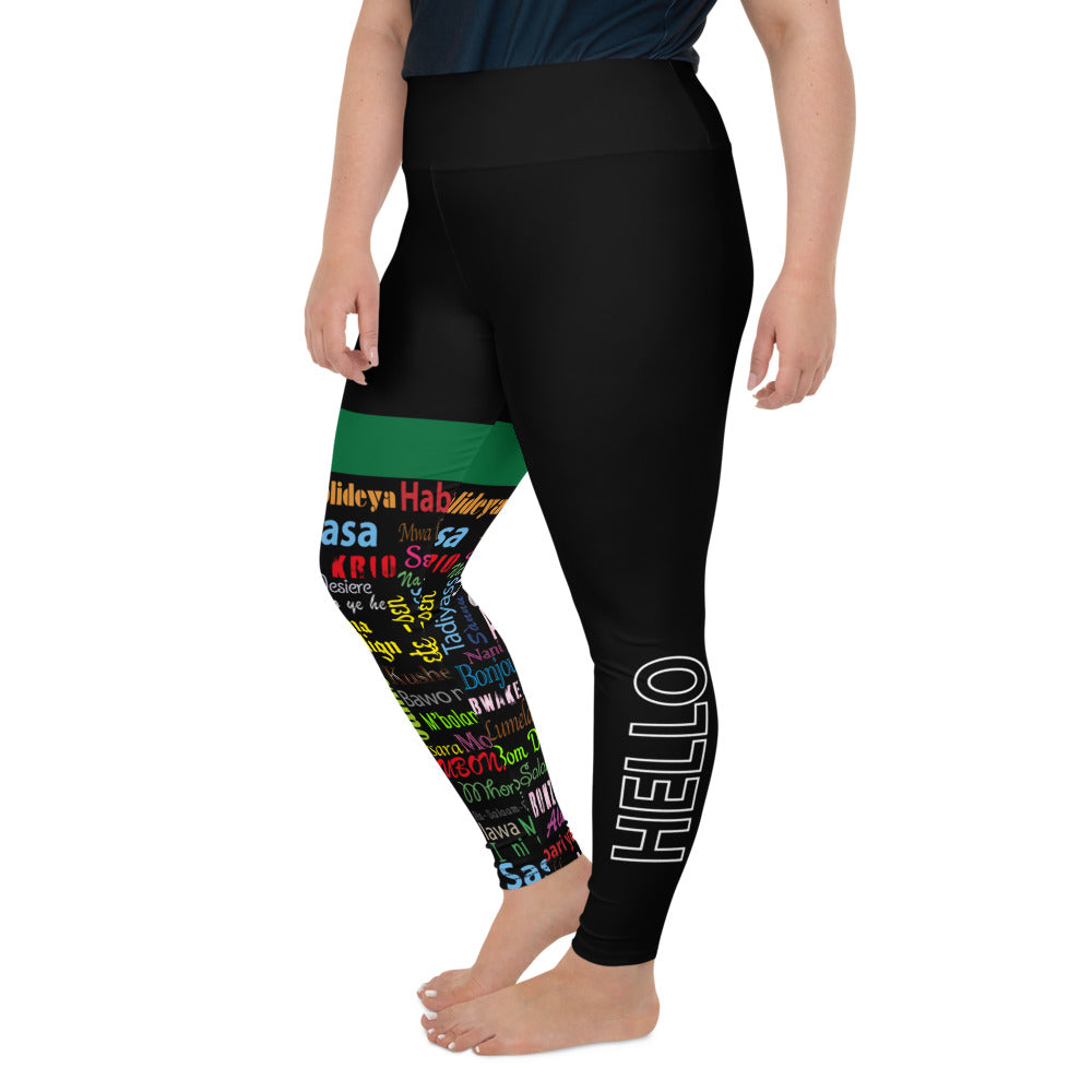 AfriBix Hello Print Plus Size High Waist Leggings