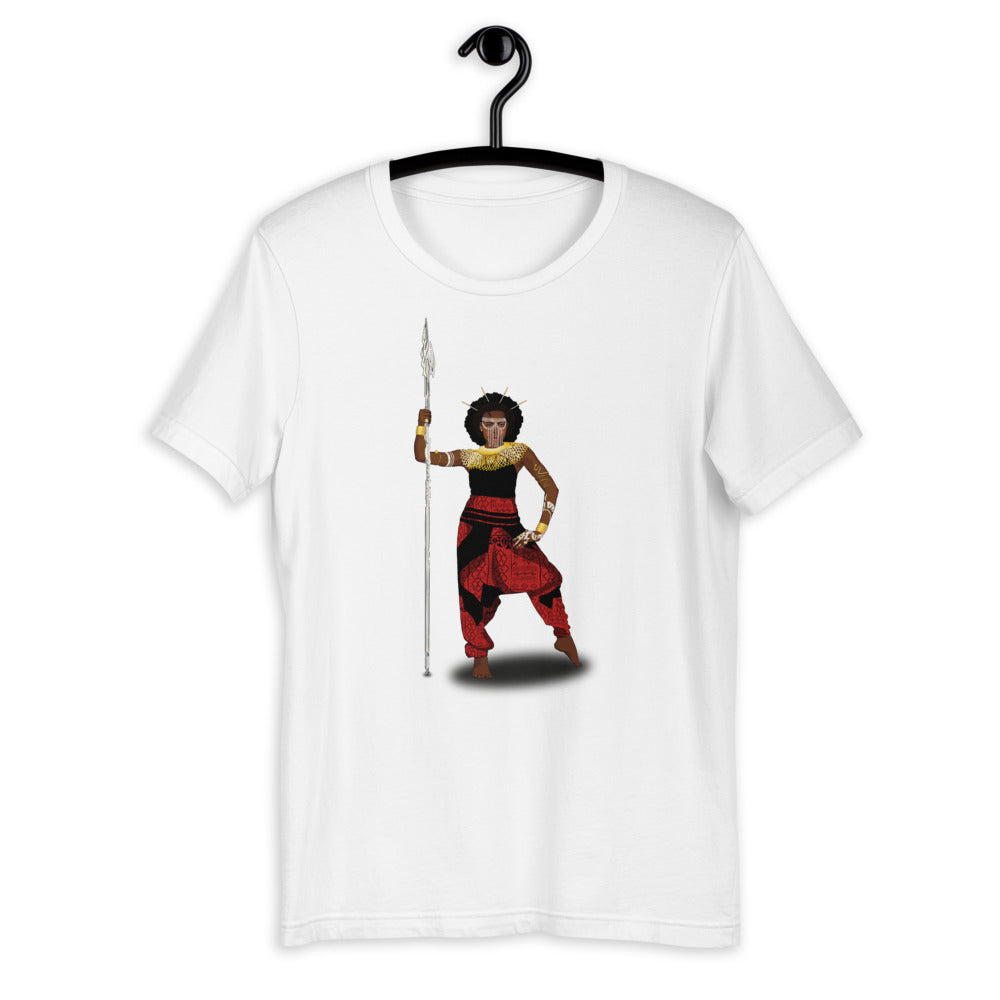 AfriBix Warrior African Queen Short-Sleeve Unisex T-Shirt