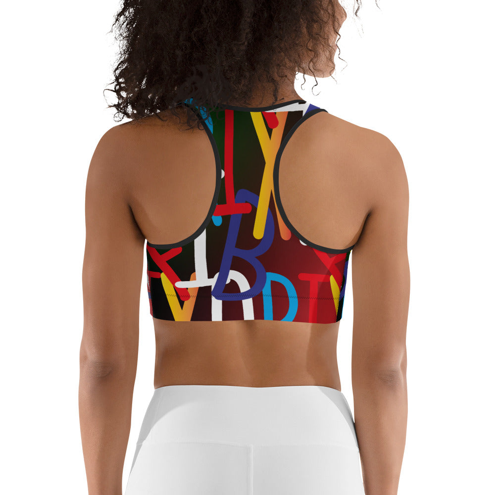 AfriBix Collage Sports bra