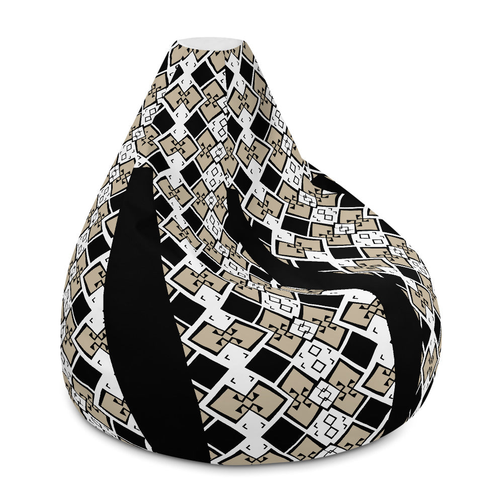AfriBix Aztek Print Comfy Bean Bag Chair w/ filling