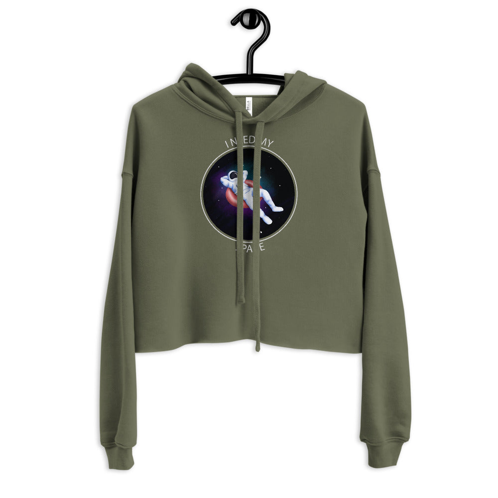 'I Need My Space' Astronaut Comfy Crop Hoodie