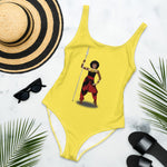 AfriBix Warrior African Queen One-Piece Swimsuit - Yellow