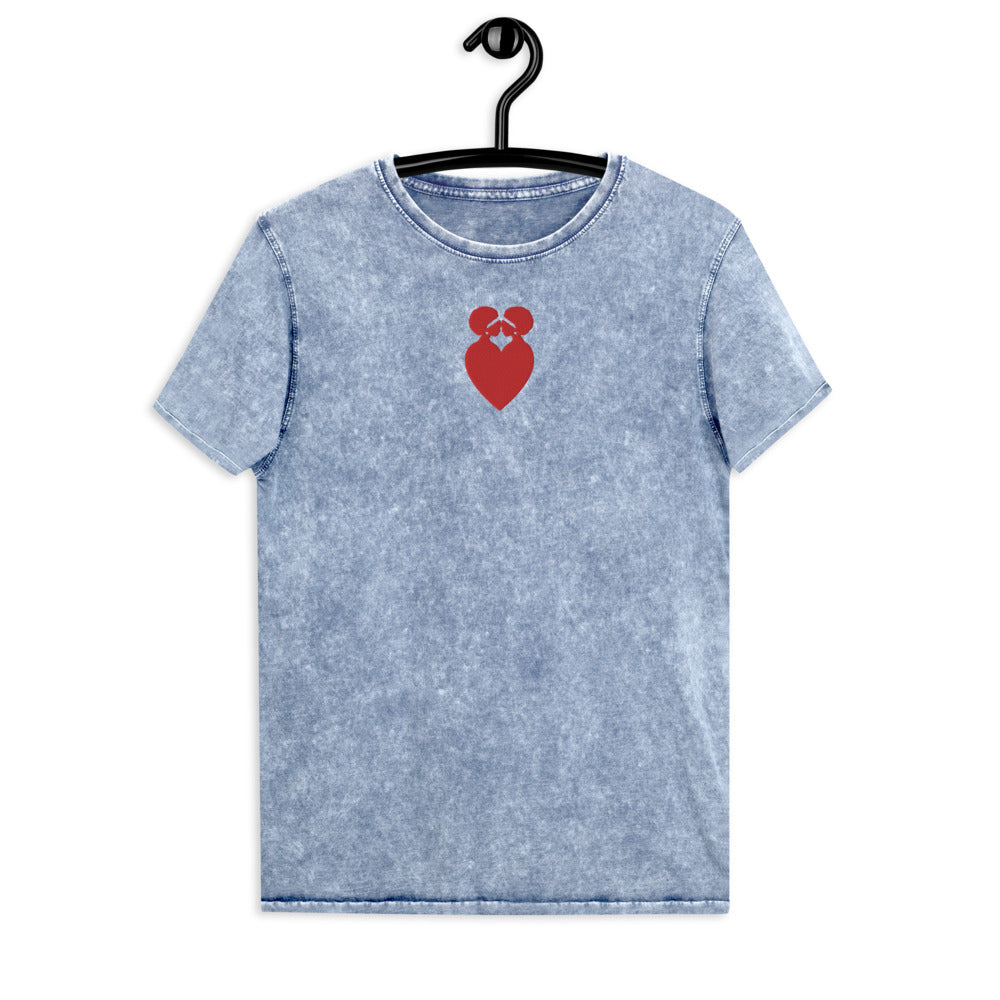 Ubuntu Embroidered Denim T-Shirt