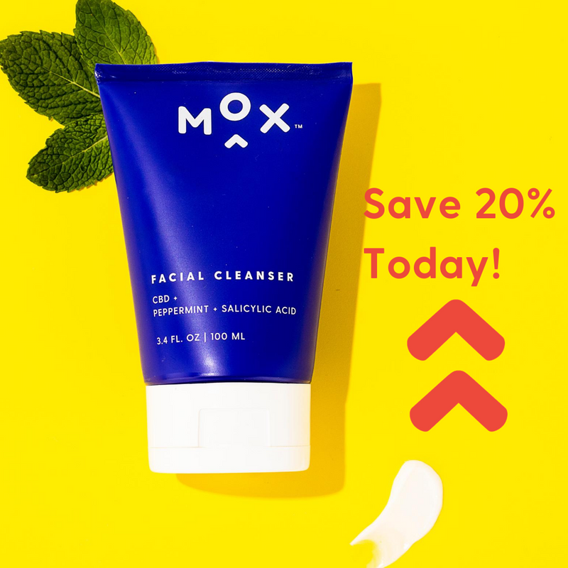 Save 20% - Mox Peppermint Facial Cleanser + Hemp Extract