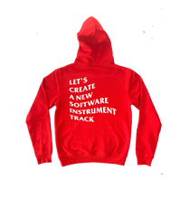 "Load image into Gallery viewer, ""New Track"" Hoodie (Red)"
