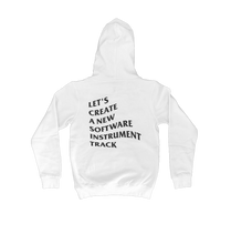 "Load image into Gallery viewer, ""New Track"" Hoodie (White)"