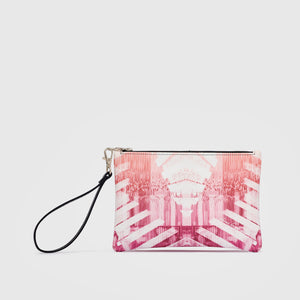 Cellular I Leather Clutch