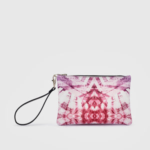 Cellular II Leather Clutch