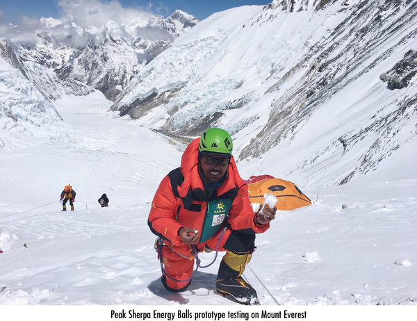 Energy balls prototype testing on Everest