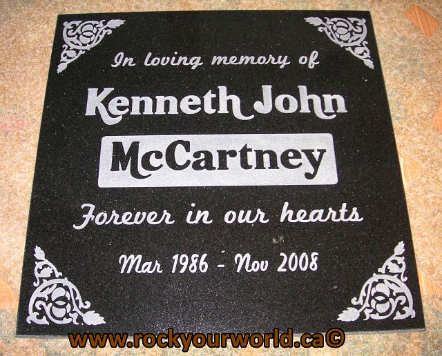 polished granite memorial stone