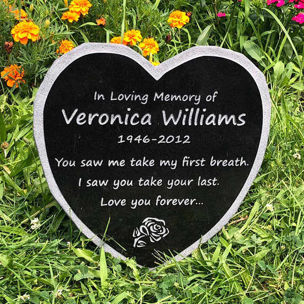 Heart Shaped Memorial Stone