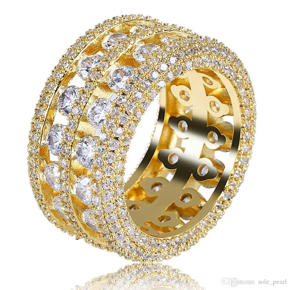 mens ring vintage hip hop jewelry Zircon iced out stainless steel ... 89c3dea58