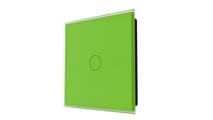 iGlass Switch 1-gang GREEN LUMINOUS