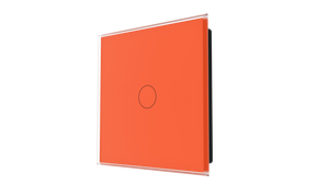 iGlass Switch 1-gang ORANGE CLASSIC