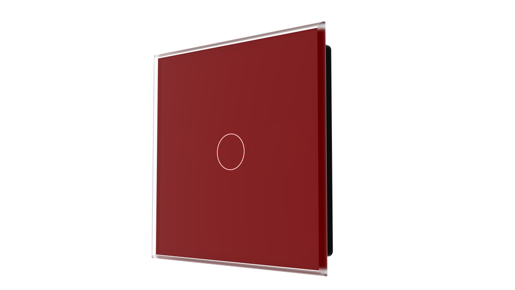 iGlass Switch 1-gang RED DARK