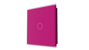 iGlass Switch 1-gang FUCHSIA