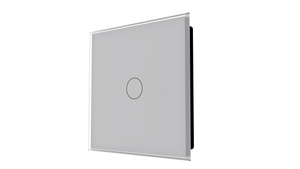 iGlass Switch 1-gang GREY METAL