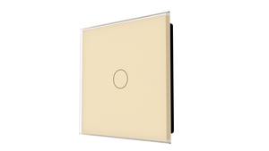 iGlass Switch 1-gang BEIGE LIGHT