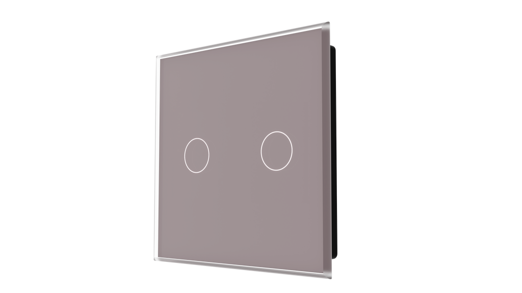 iGlass Switch 2-gang TAUPE METAL