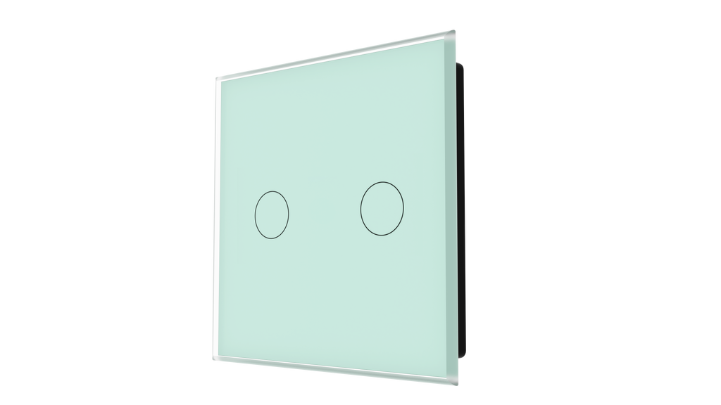 iGlass Switch 2-gang GREEN PASTEL