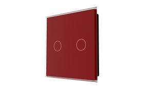 iGlass Switch 2-gang RED DARK
