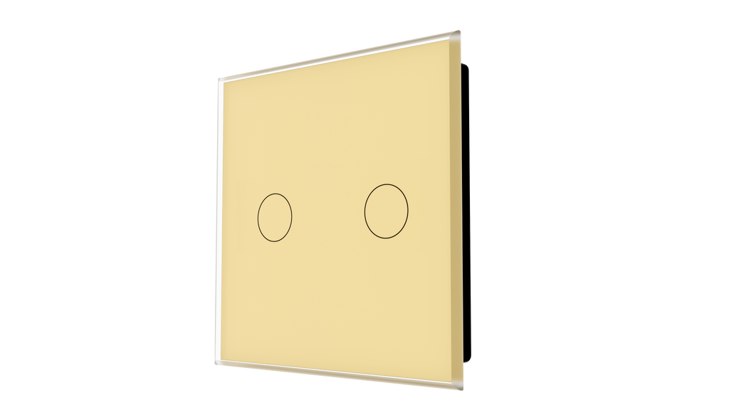 iGlass Switch 2-gang BEIGE CLASSIC