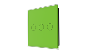 iGlass Switch 3-gang GREEN LUMINOUS