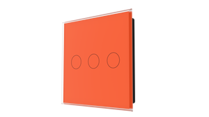 iGlass Switch 3-gang ORANGE CLASSIC