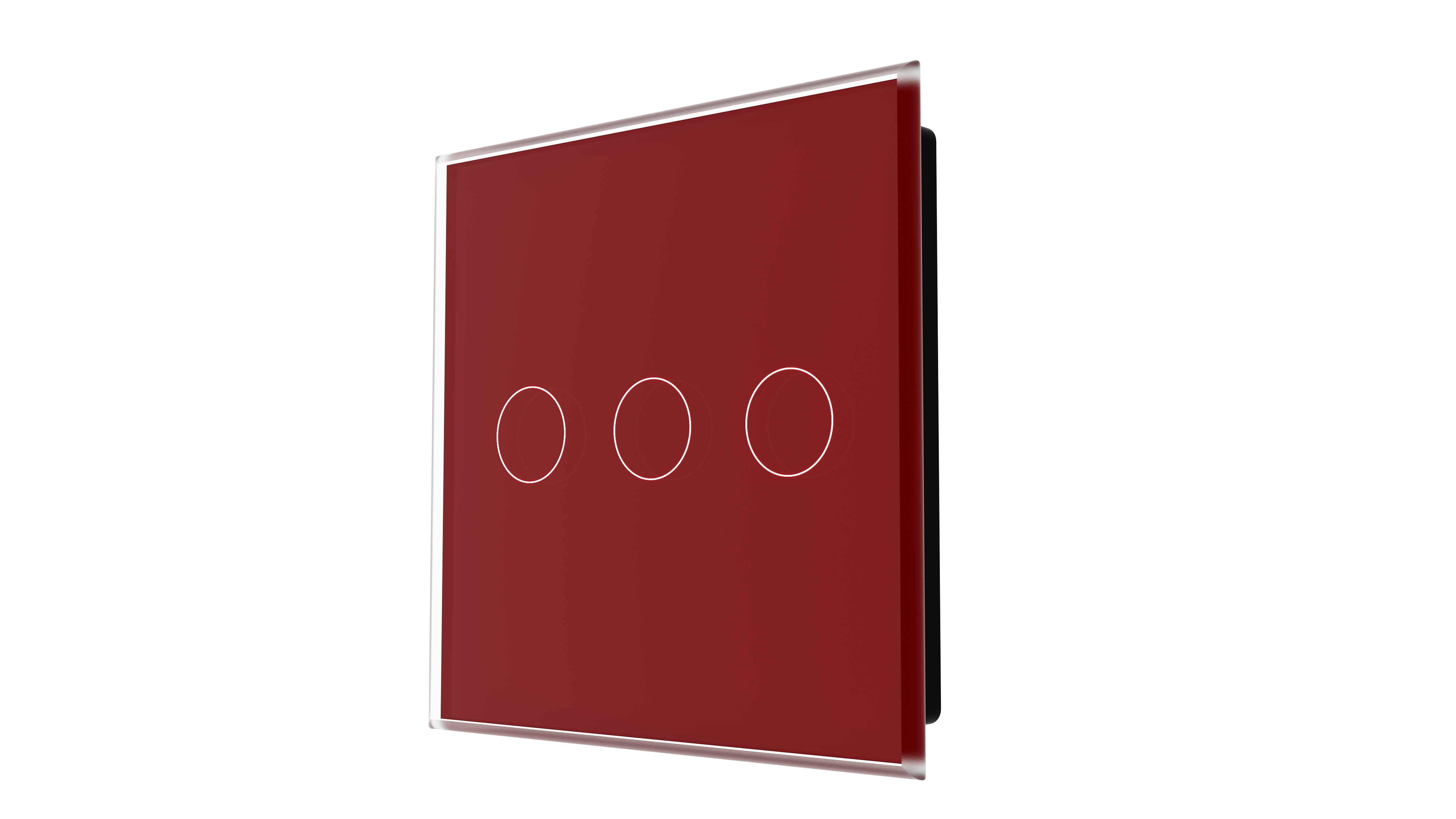 iGlass Switch 3-gang RED DARK
