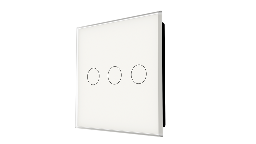 iGlass Switch 3-gang WHITE SOFT