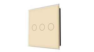 iGlass Switch 3-gang BEIGE LIGHT