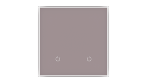 Glass Switch 2-gang TAUPE METAL