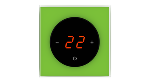 Glass Thermostat T-Type - GREEN LUMINOUS