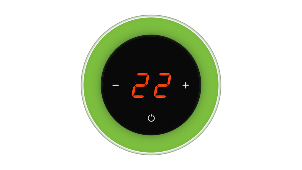 Glass Thermostat R-Type - GREEN LUMINOUS