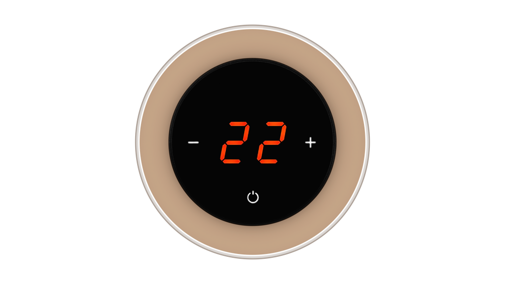 Glass Thermostat R-Type - BROWN LIGHT